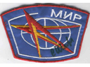 # aup170 Mir crew patch signed by cosmonaut Sharipov