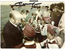 # astp963 Leonov with Young Pioneers signed photo