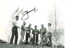 # astp966 ASTP cosmonautas and astronauts planting trees signed photo